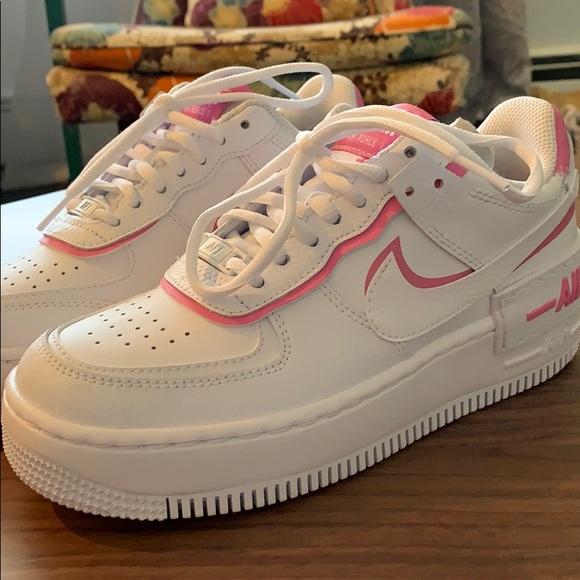 Nike Shoes Air Force One Shadow White Magic Flamingo Poshmark